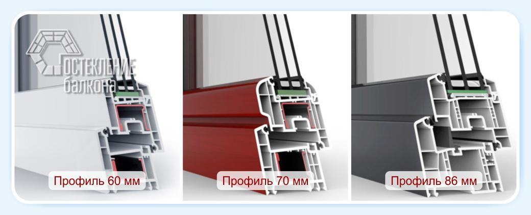 Профили для балконных блоков