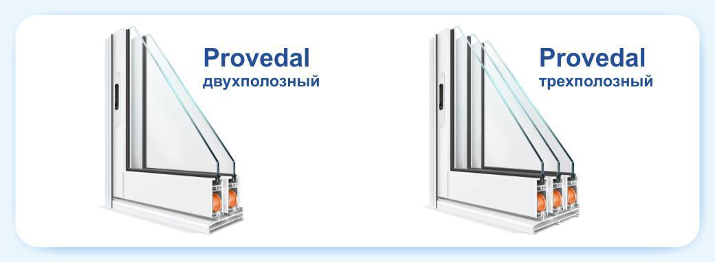 Двухполозный и трехполозный профиль Provedal