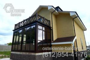 36 Загородный дом с остекленной верандой