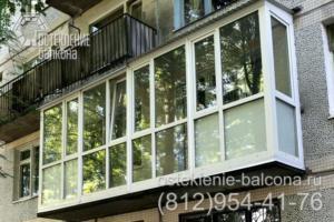 01 Остекление балкона пластиковым профилем