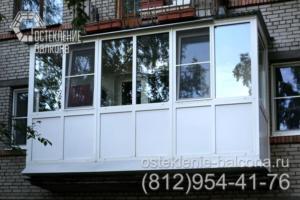03 Остекление балкона экономичным профилем