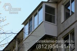 13 Остекление балкона недорогим профилем