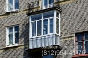 17 Остекление балкона в сталинке недорогим профилем