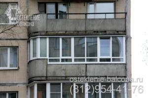 19 Остекление балкона недорогим профилем в 137 серии