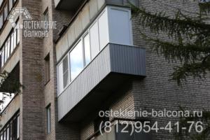 20 Экономичное остекление балкона в точечном доме