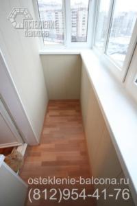 25 Остекление балкона с выносом по подоконнику