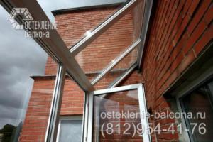 27 Остекление балкона с крышей из стеклопакетов