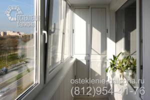 01 Остекление балкона в 606 серии под ключ