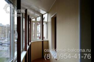 23 Остекление балкона с крышей  под ключ