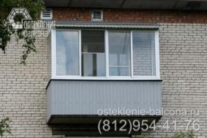 02 Остекление балкона алюминиевым профилем в хрущевке