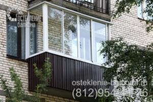 04 Остекление балкона раздвижным профилем в 528 серии