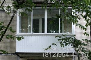 05 Остекление балкона алюминиевым профилем в хрущевке