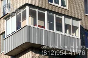 08 Остекление углового балкона алюминиевым профилем