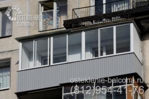 15 Остекление балкона алюминиевым профилем в 606 серии