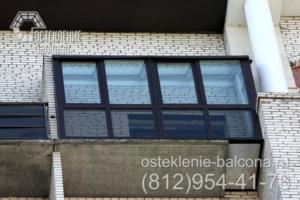 01 Остекление балкона с выносом пола профилем Rehau