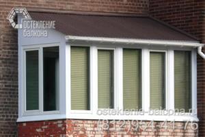 03 Остекление балкона с крышей ПВХ профилем