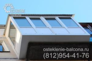 04 Остекление балкона с выносом пола ПВХ профилем