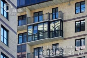 05 Остекление балкона ПВХ профилем Rehau в новом доме