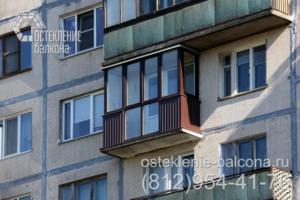 07 Остекление балкона ПВХ профилем Rehau в 606 серии