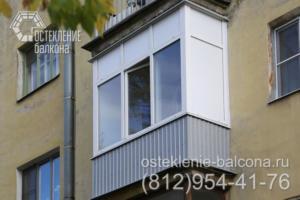 08 Остекление балкона ПВХ профилем Rehau в сталинке