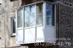 09 Остекление балкона с выносом пола в хрущевке