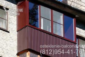 13 Остекление балкона ПВХ профилем Rehau в хрущевке