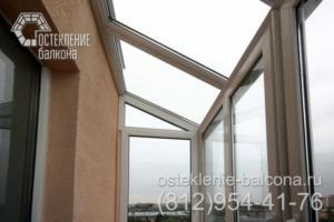 14 Остекление балкона с крышей из стеклопакетов