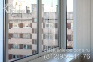 02 Остекление и отделка балкона раздвижным профилем Slidors