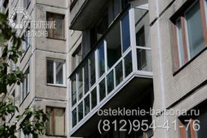 07 Остекление балкона с крышей профилем Слайдорс