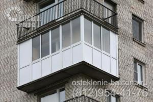 08 Остекление углового балкона раздвижным профилем Slidors