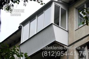 10 Остекление балкона с выносом раздвижным профилем Slidors