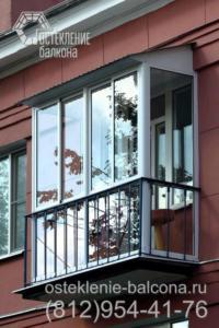 11 Остекление балкона профилем Слайдорс