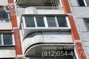 01 Остекление балкона с угловым выносом в 137 серии