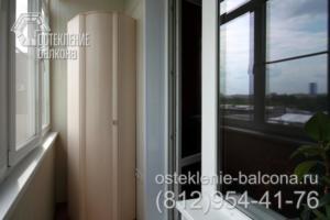 03 Остекление балкона в сталинке с полной отделкой
