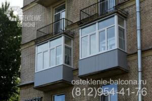 11 Теплое остекление балконов в сталинке