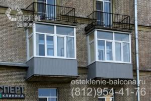 12 Остекление балконов в сталинке с внешней отделкой профлистом