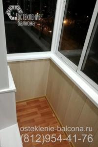 20 Остекление и отделка балкона под ключ в сталинке