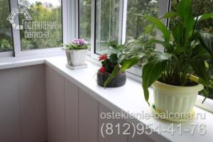 09 Остекление и отделка балкона с выносом в брежневке