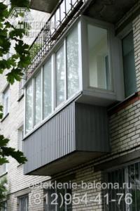 15 Остекление балкона с боковым выносом в брежневке