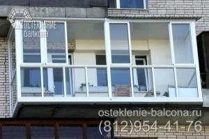 18 Остекление балкона в 528 КП 41 серии профилем Слайдорс