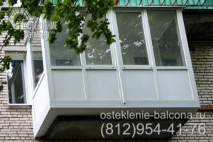 19 Остекление балкона в брежневке с выносом пола