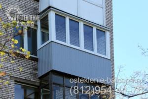 22 Остекление балкона в 528 КП 41 серии с выносом по полу