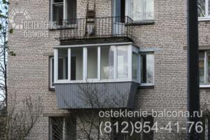 23 Остекление балкона в брежневке с боковым выносом