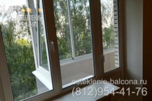 26 Холодное остекление балкона стыкуется с окном
