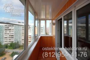 13 Остекление и отделка балкона