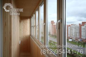 22 Остекление балкона с отделкой
