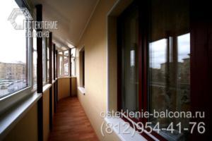 23 Остекление балкона с крышей