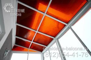30 Остекление балкона с крышей из поликарбоната